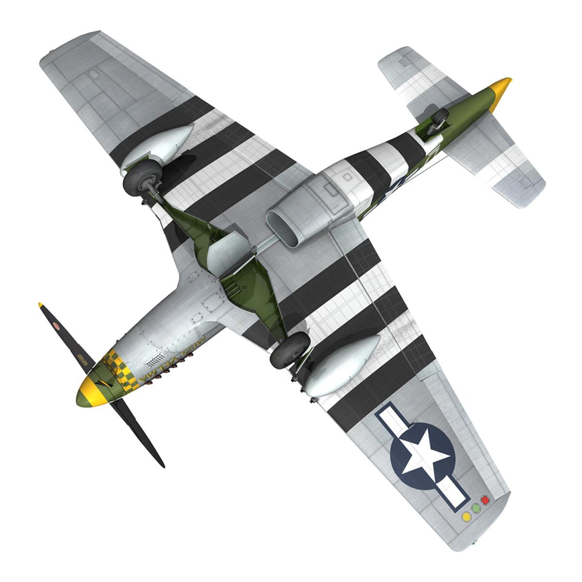 north american p-51d – mustang – miss velma 3d model 3ds fbx c4d lwo obj 267634
