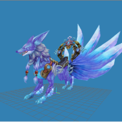 Fox Mounts 3d model 0