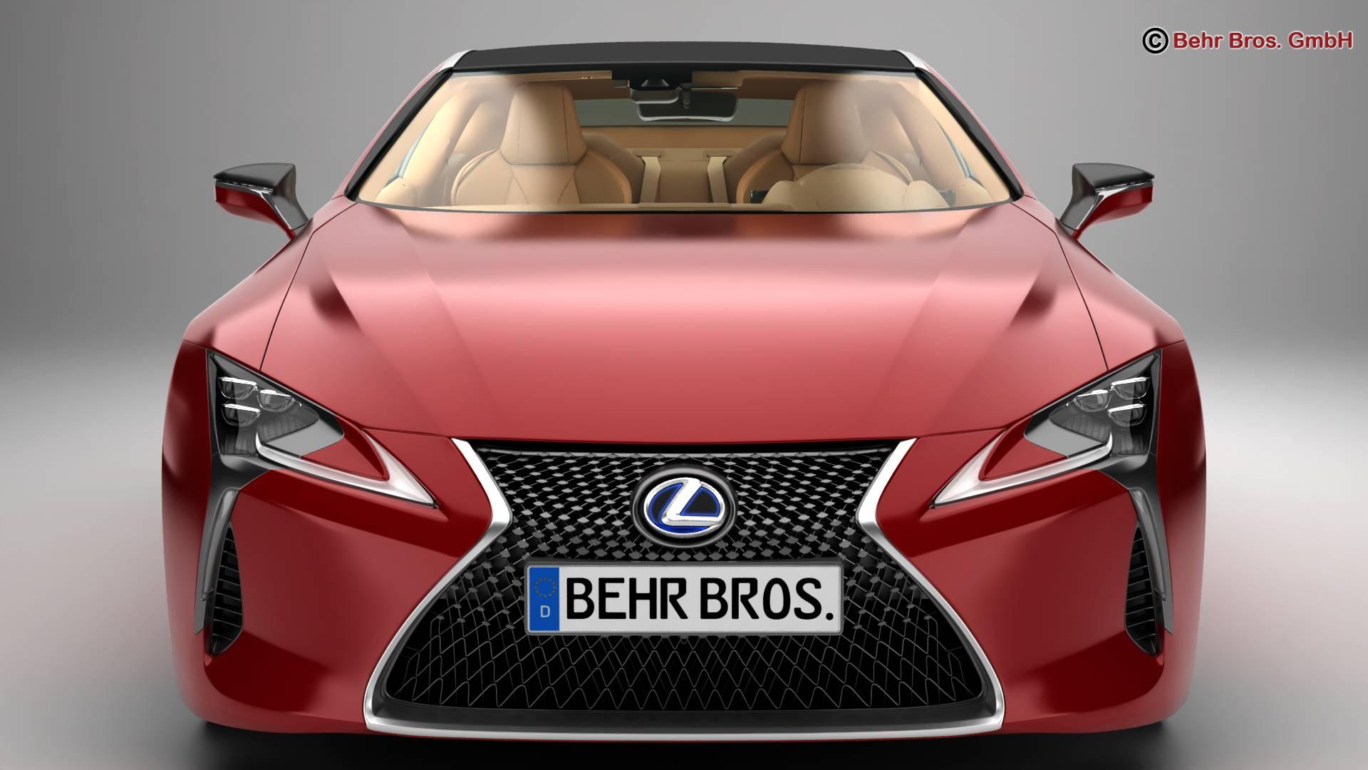 lexus lc 500 us hybrid 2018 3d model 3ds max fbx c4d lwo ma mb obj 267927