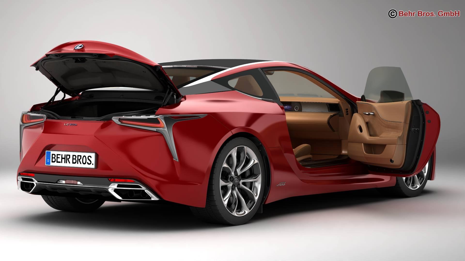 lexus lc 500 us hybrid 2018 3d model 3ds max fbx c4d lwo ma mb obj 267929
