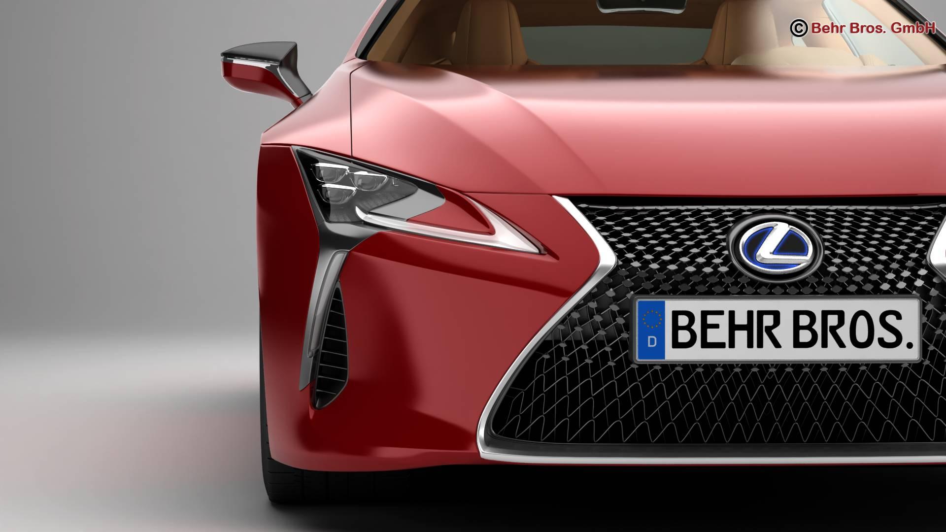 lexus lc 500 us hybrid 2018 3d model 3ds max fbx c4d lwo ma mb obj 267930