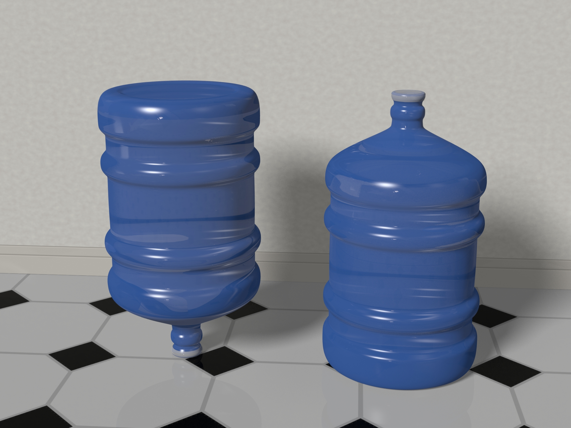 water bottle 5 gallons 3d model max fbx c4d jpeg jpg lxo  obj 268045