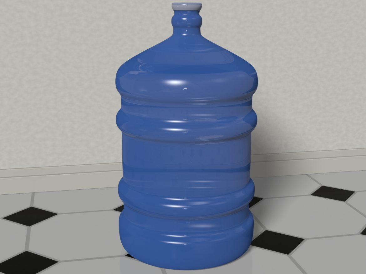 water bottle 5 gallons 3d model max fbx c4d jpeg jpg lxo  obj 268048