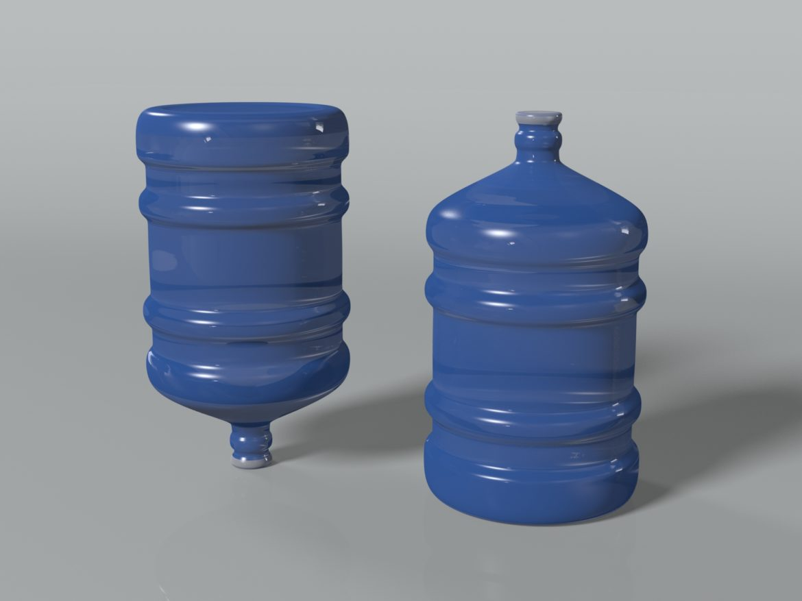 water bottle 5 gallons 3d model max fbx c4d jpeg jpg lxo  obj 268051