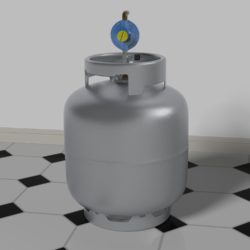 Gas Bottle with regulator 3d model 0