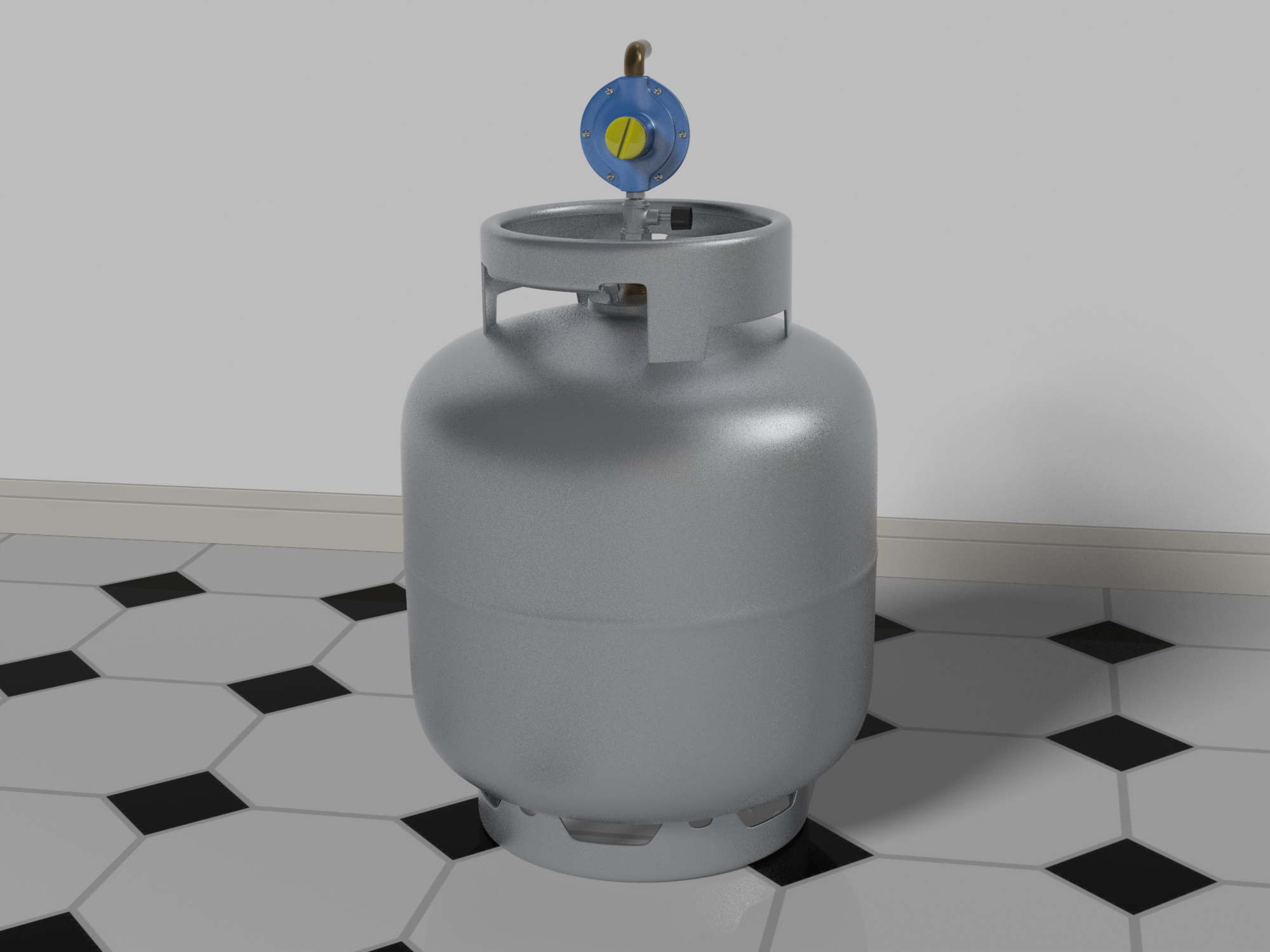 gas bottle with regulator 3d model max fbx c4d lxo  268063