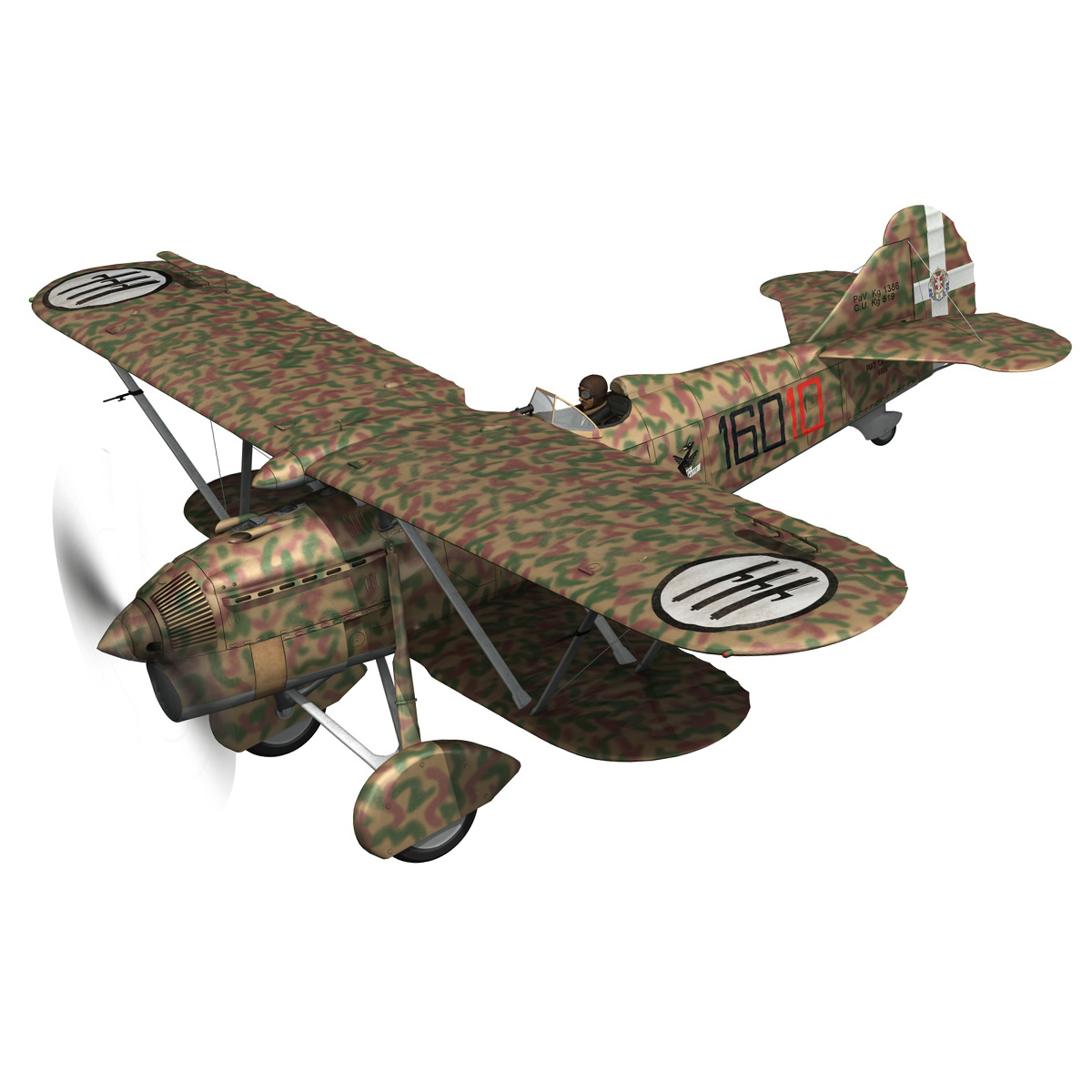 fiat cr.32 – italy airforce – 160 squadriglia 3d model fbx c4d lwo obj 268103