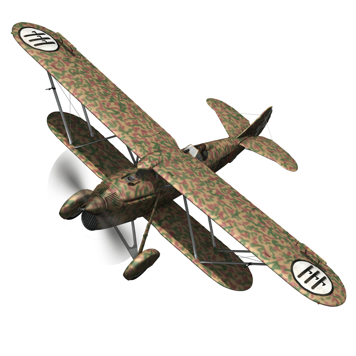fiat cr.32 – italy airforce – 160 squadriglia 3d model fbx c4d lwo obj 268104