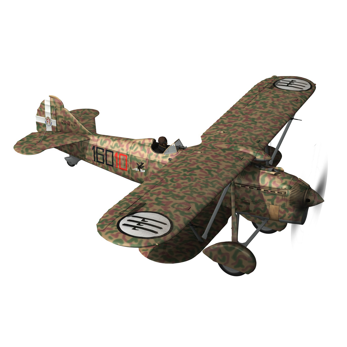 fiat cr.32 – italy airforce – 160 squadriglia 3d model fbx c4d lwo obj 268107