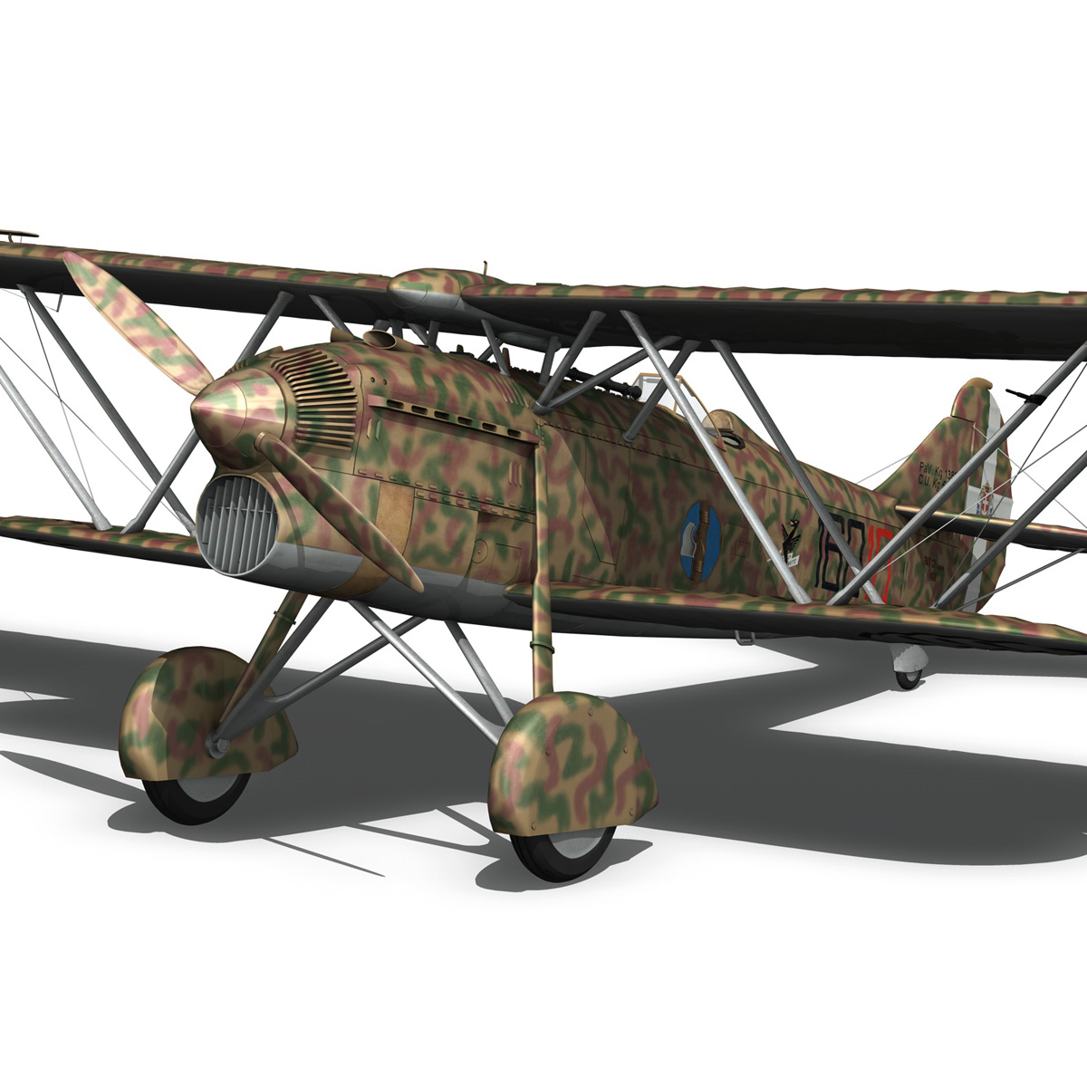 fiat cr.32 – italy airforce – 160 squadriglia 3d model fbx c4d lwo obj 268112