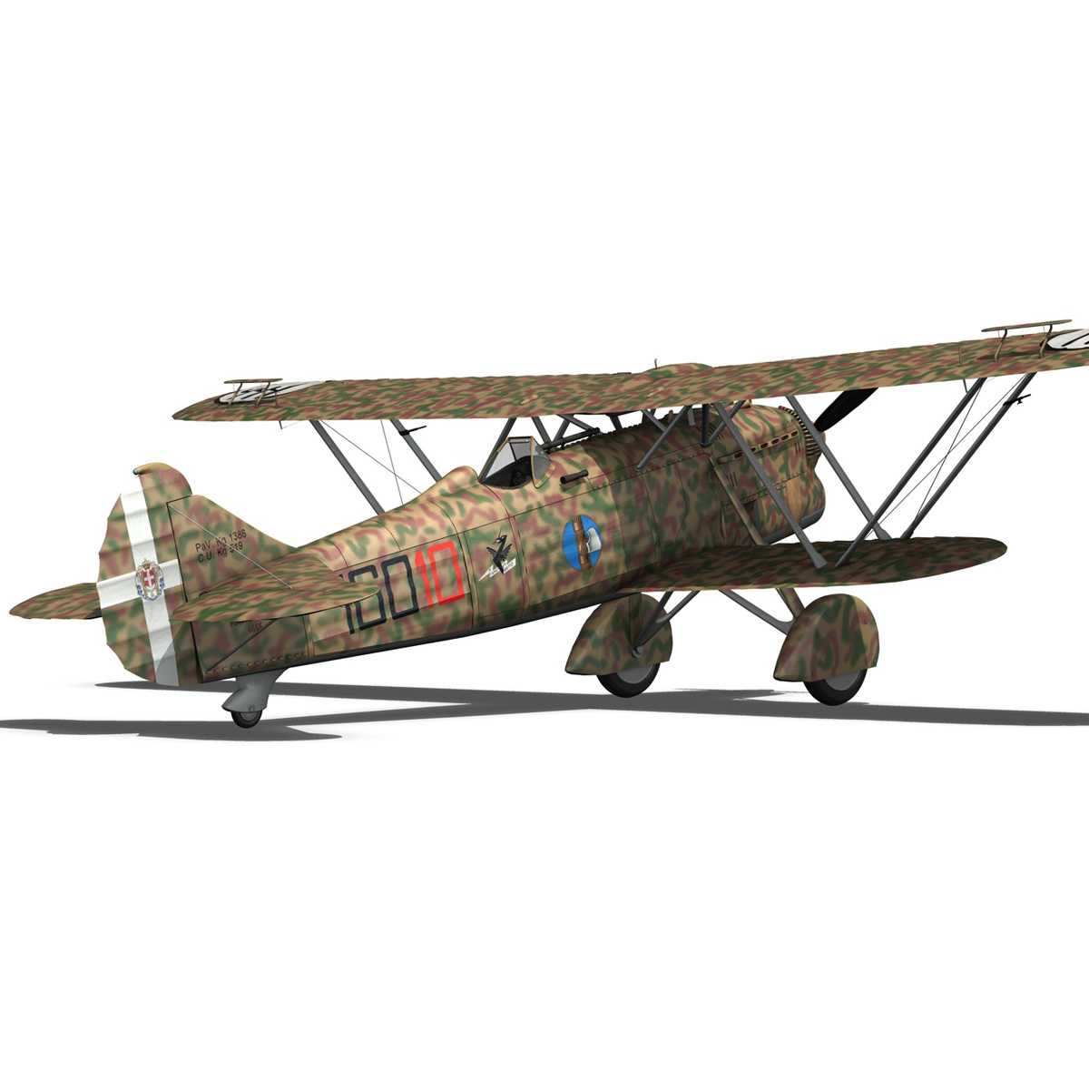 fiat cr.32 – italy airforce – 160 squadriglia 3d model fbx c4d lwo obj 268115