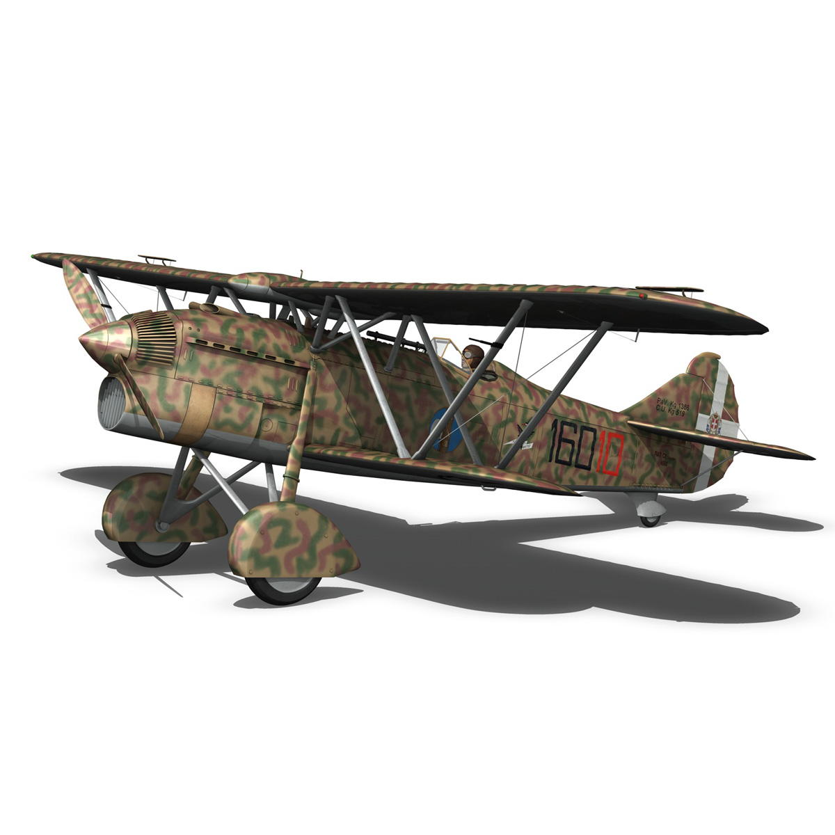 fiat cr.32 – italy airforce – 160 squadriglia 3d model fbx c4d lwo obj 268119