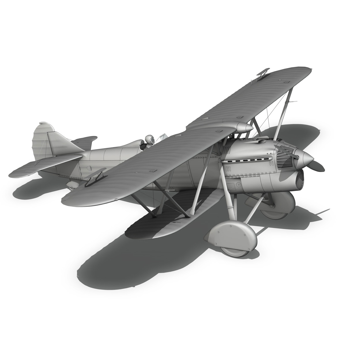 fiat cr.32 – italy airforce – 160 squadriglia 3d model fbx c4d lwo obj 268121