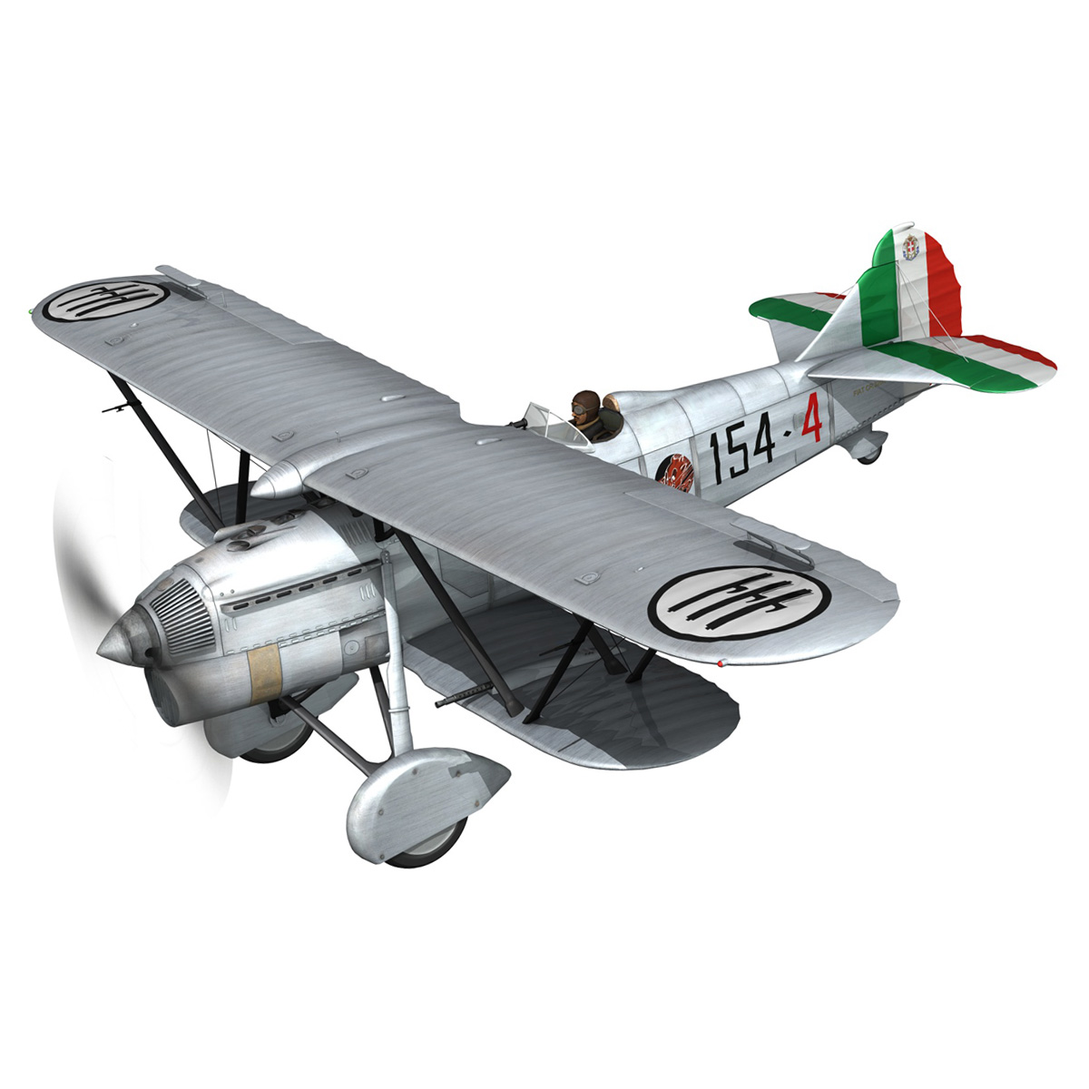 fiat cr.32 – italy airforce – 154 squadriglia 3d model fbx c4d lwo obj 268129