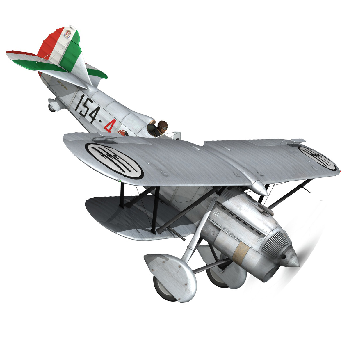 fiat cr.32 – italy airforce – 154 squadriglia 3d model fbx c4d lwo obj 268131
