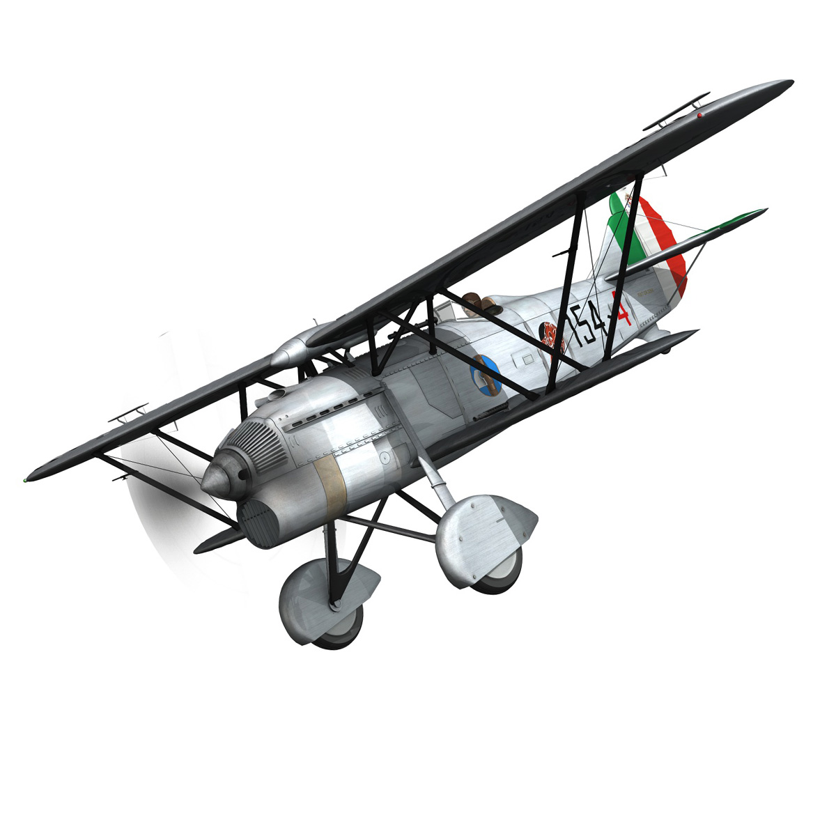fiat cr.32 – italy airforce – 154 squadriglia 3d model fbx c4d lwo obj 268134