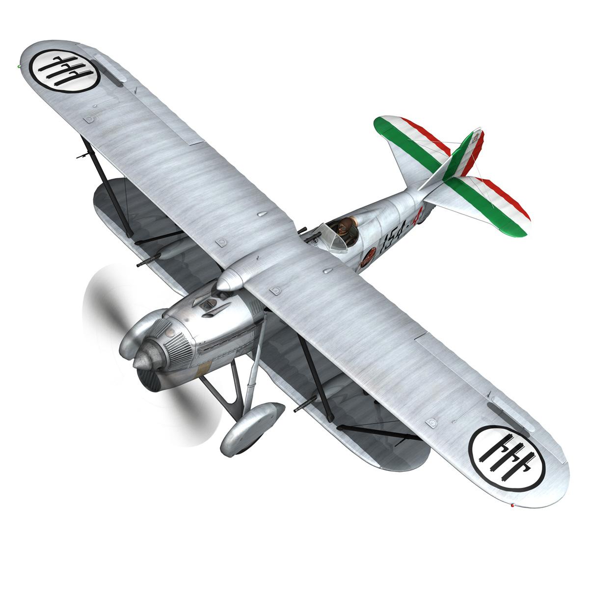 fiat cr.32 – italy airforce – 154 squadriglia 3d model fbx c4d lwo obj 268135