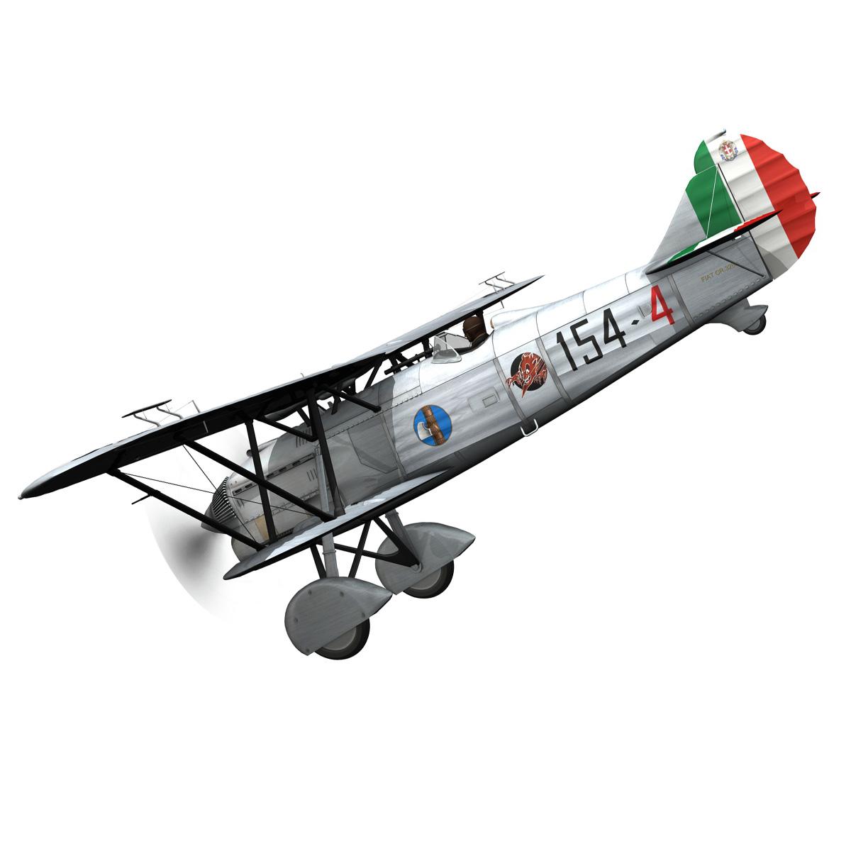 fiat cr.32 – italy airforce – 154 squadriglia 3d model fbx c4d lwo obj 268136
