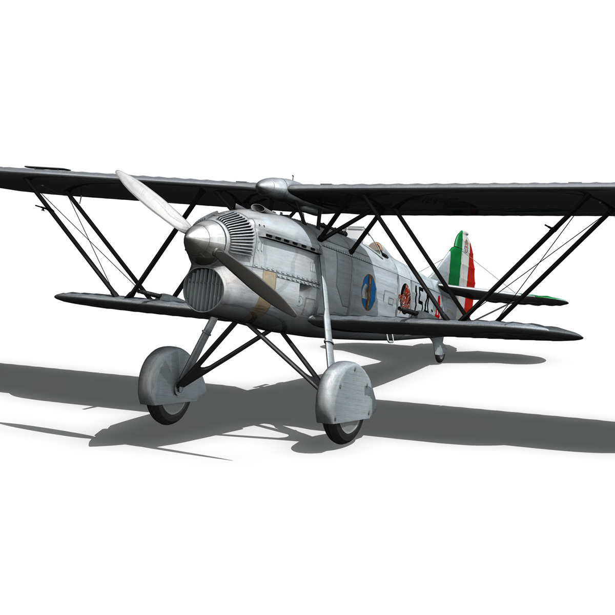 fiat cr.32 – italy airforce – 154 squadriglia 3d model fbx c4d lwo obj 268137