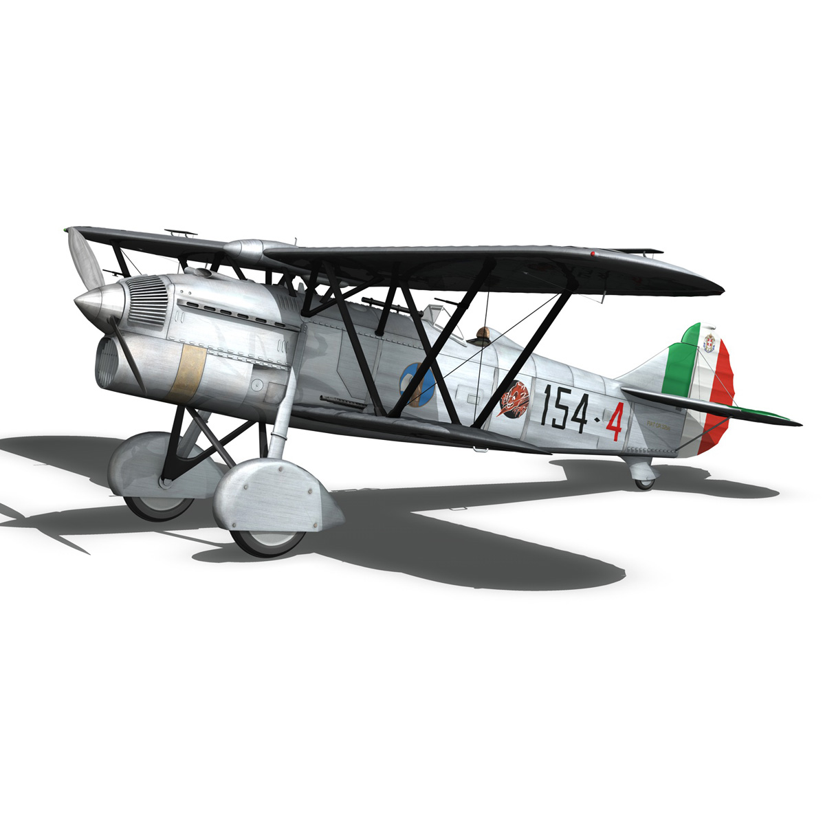fiat cr.32 – italy airforce – 154 squadriglia 3d model fbx c4d lwo obj 268138