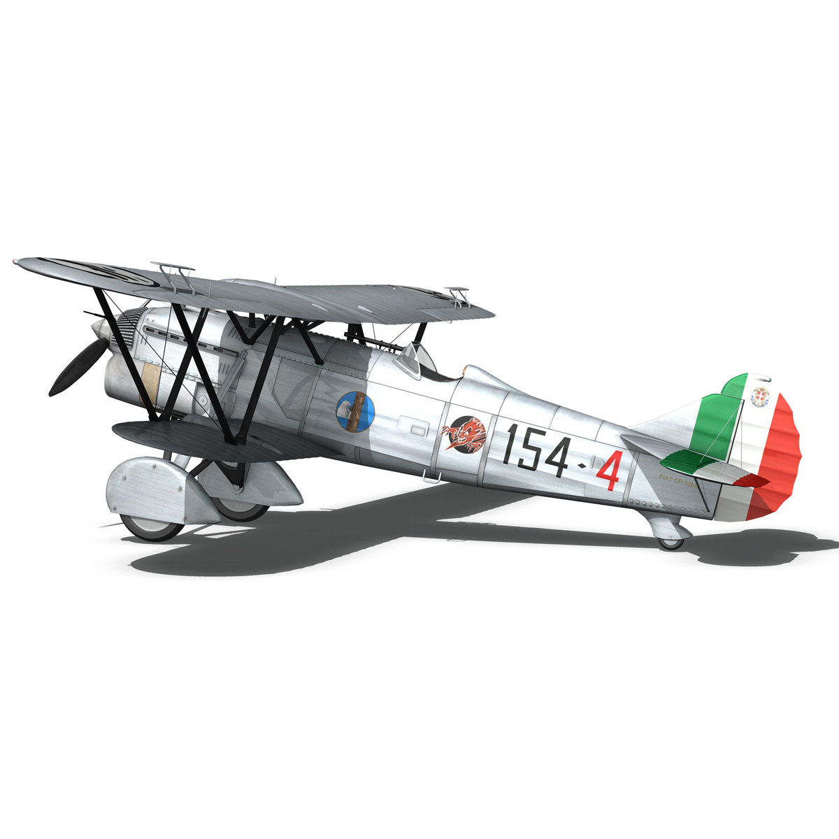 fiat cr.32 – italy airforce – 154 squadriglia 3d model fbx c4d lwo obj 268139