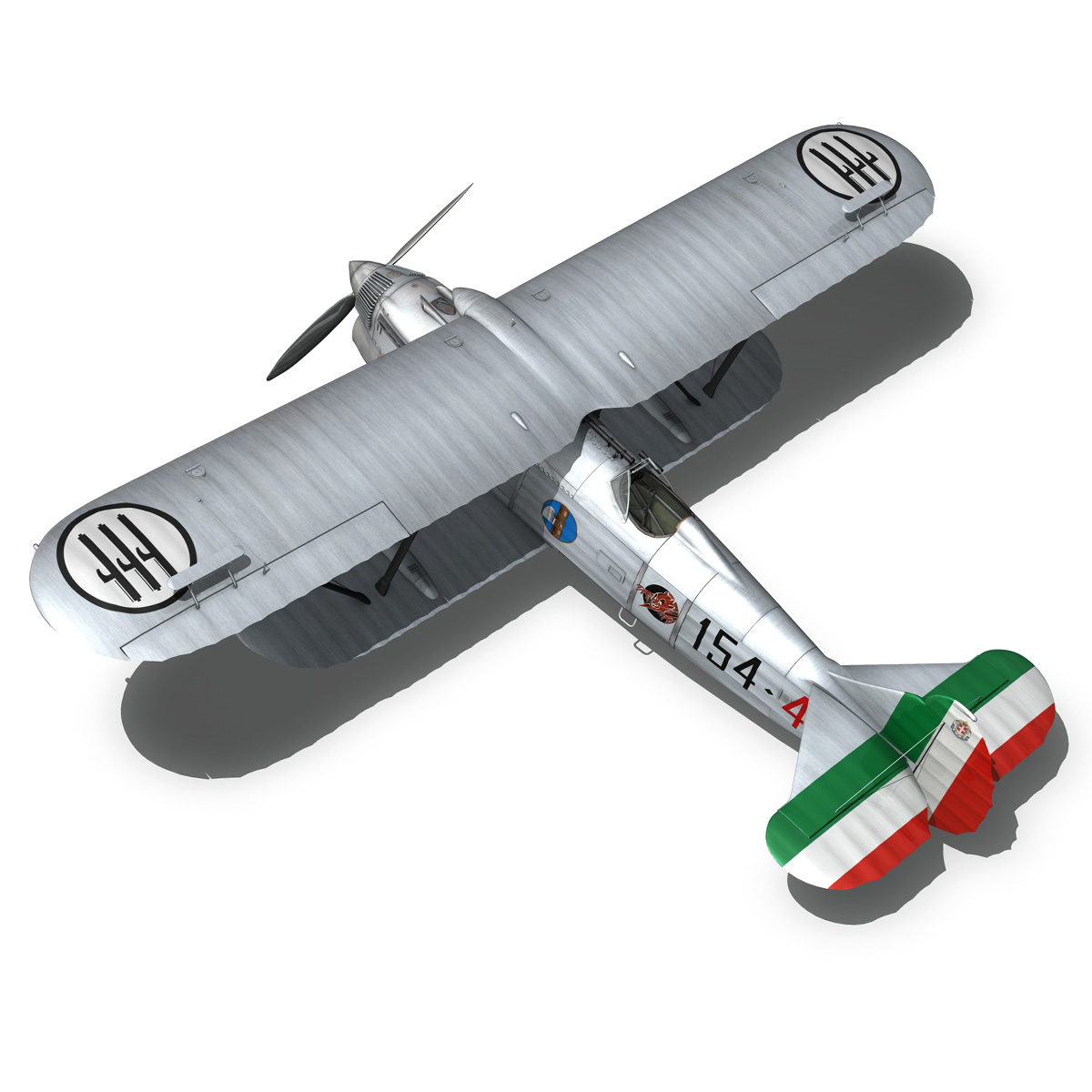 fiat cr.32 – italy airforce – 154 squadriglia 3d model fbx c4d lwo obj 268140