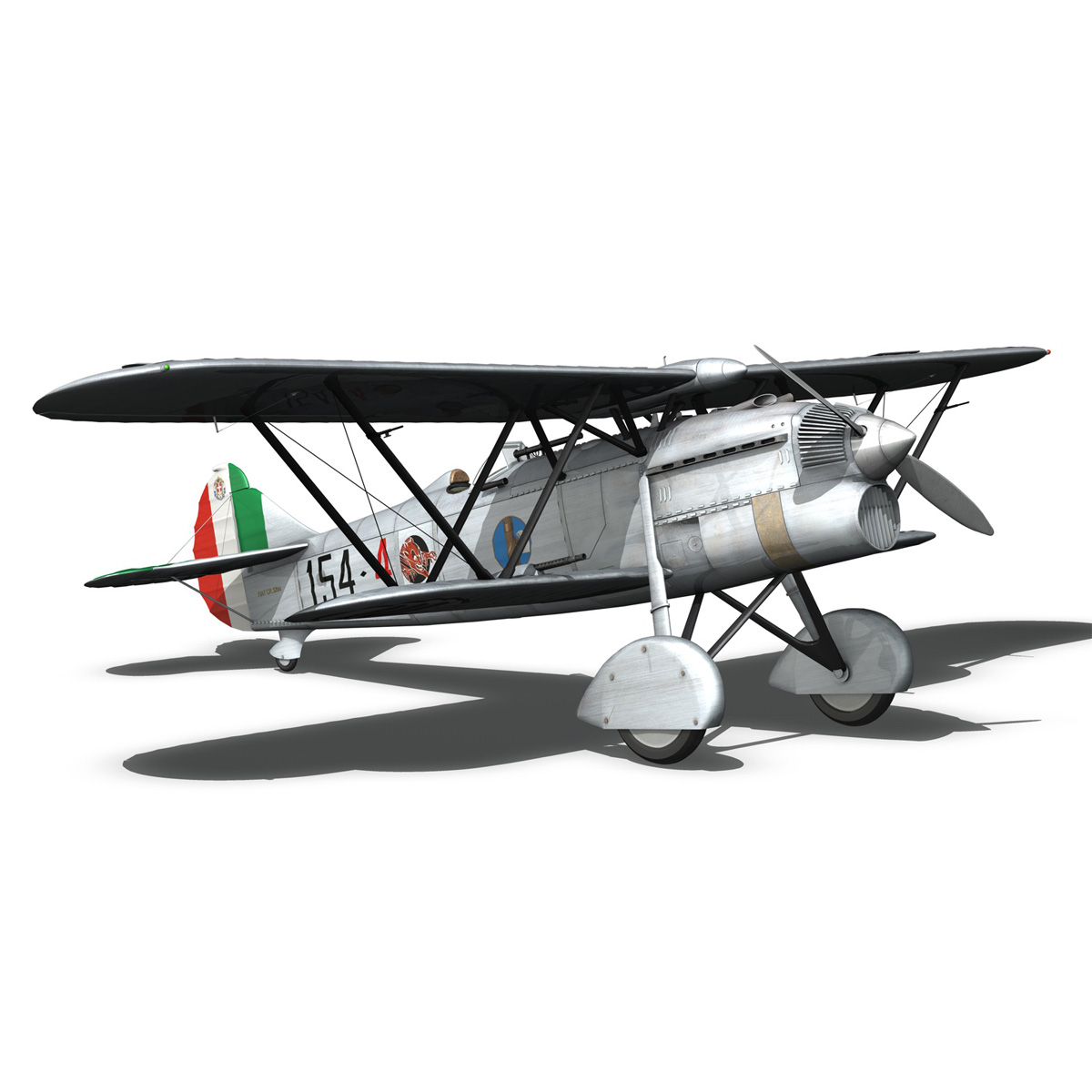 fiat cr.32 – italy airforce – 154 squadriglia 3d model fbx c4d lwo obj 268141