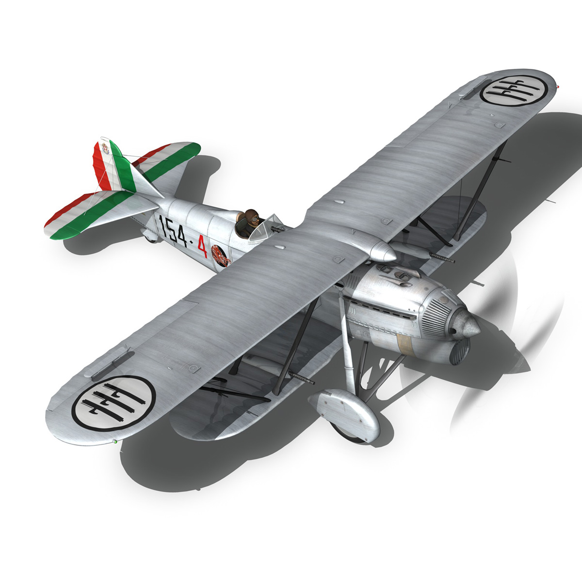 fiat cr.32 – italy airforce – 154 squadriglia 3d model fbx c4d lwo obj 268142