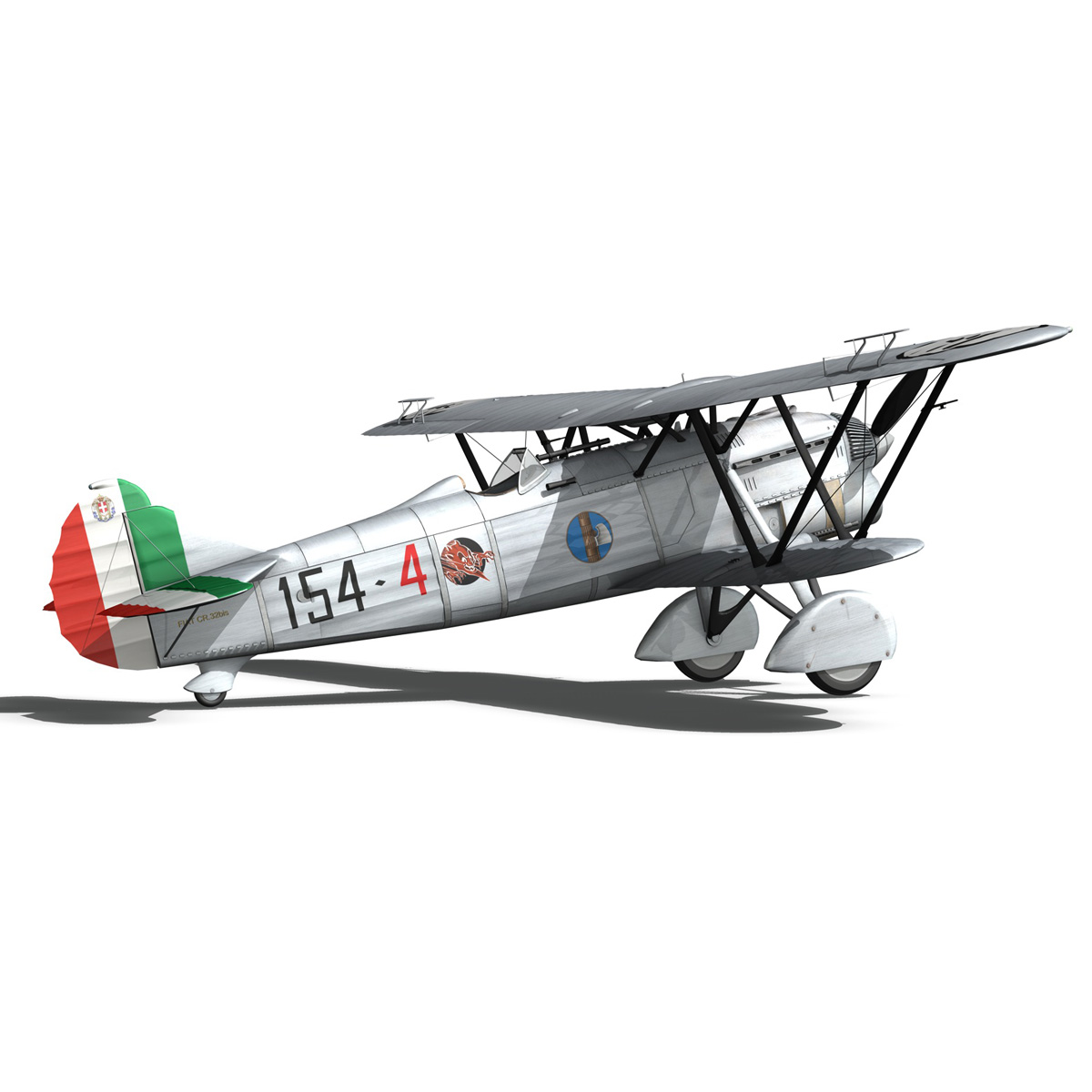 fiat cr.32 – italy airforce – 154 squadriglia 3d model fbx c4d lwo obj 268143