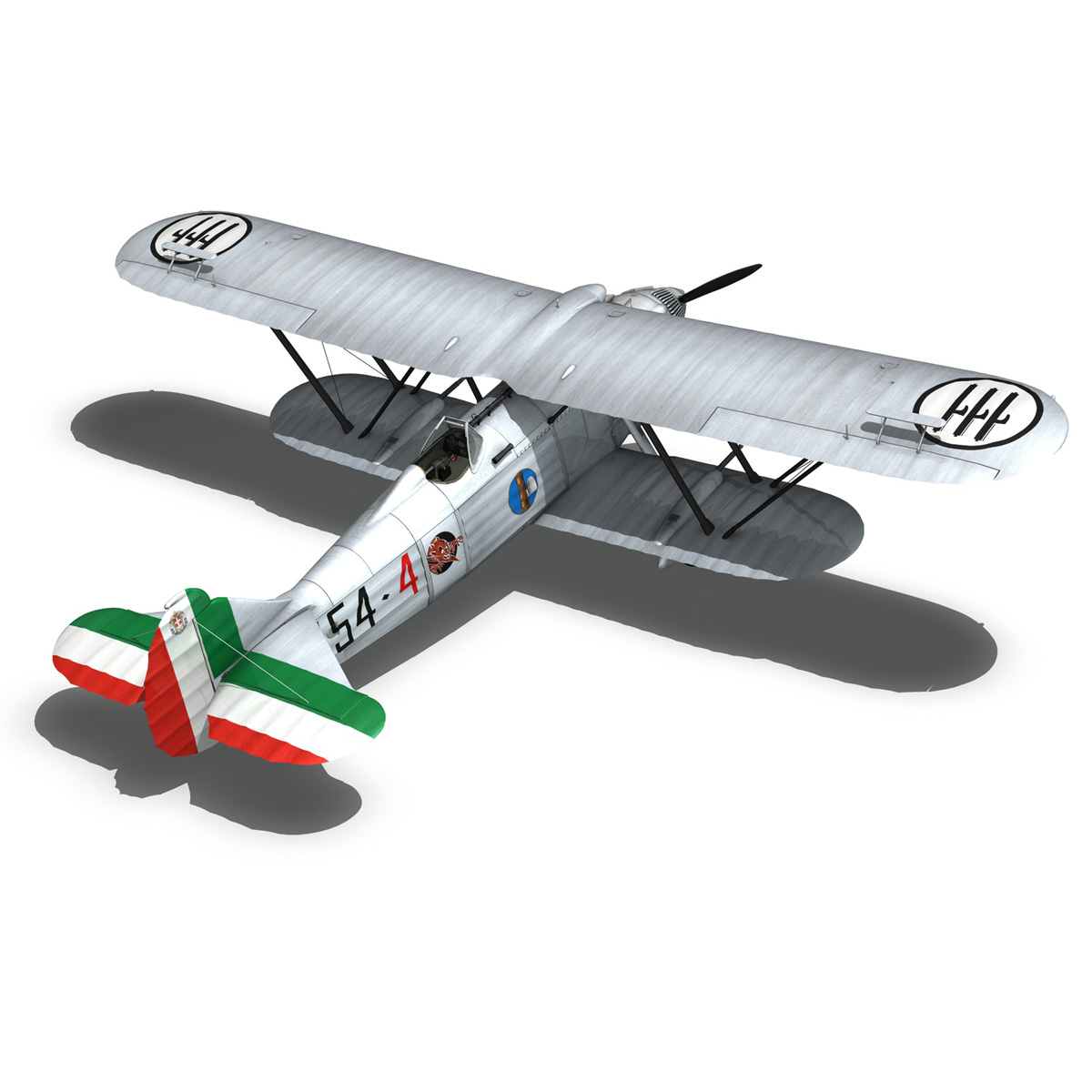 fiat cr.32 – italy airforce – 154 squadriglia 3d model fbx c4d lwo obj 268144