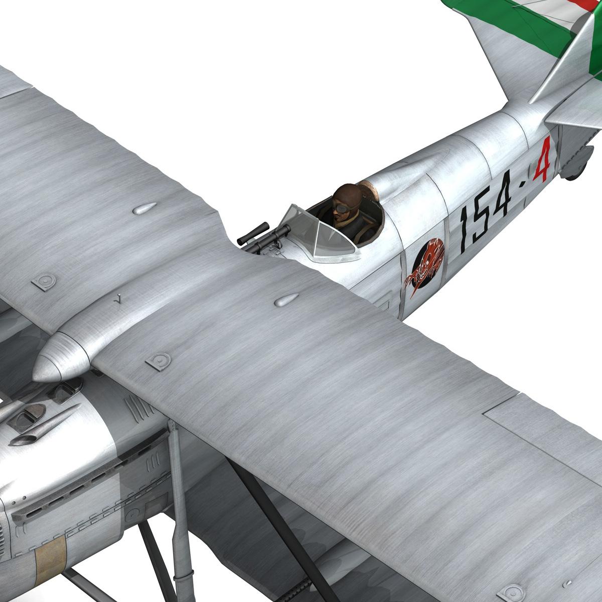 fiat cr.32 – italy airforce – 154 squadriglia 3d model fbx c4d lwo obj 268145