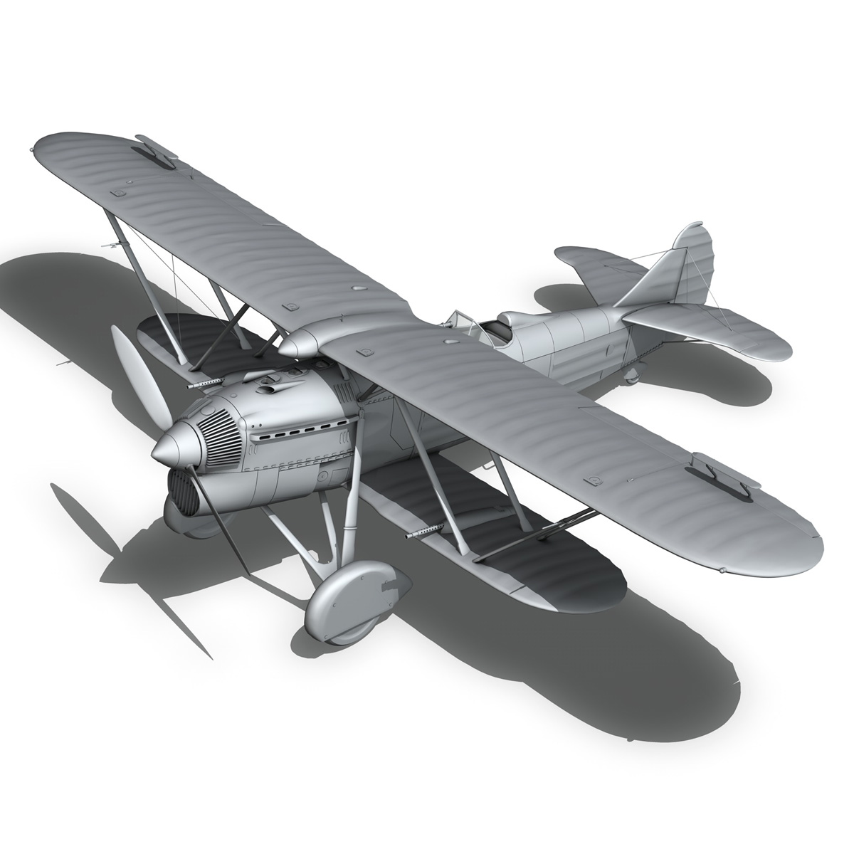 fiat cr.32 – italy airforce – 154 squadriglia 3d model fbx c4d lwo obj 268147