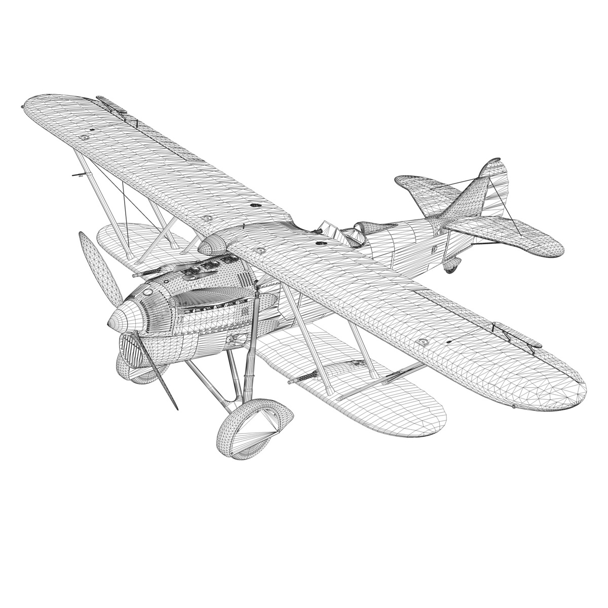 fiat cr.32 – italy airforce – 154 squadriglia 3d model fbx c4d lwo obj 268148