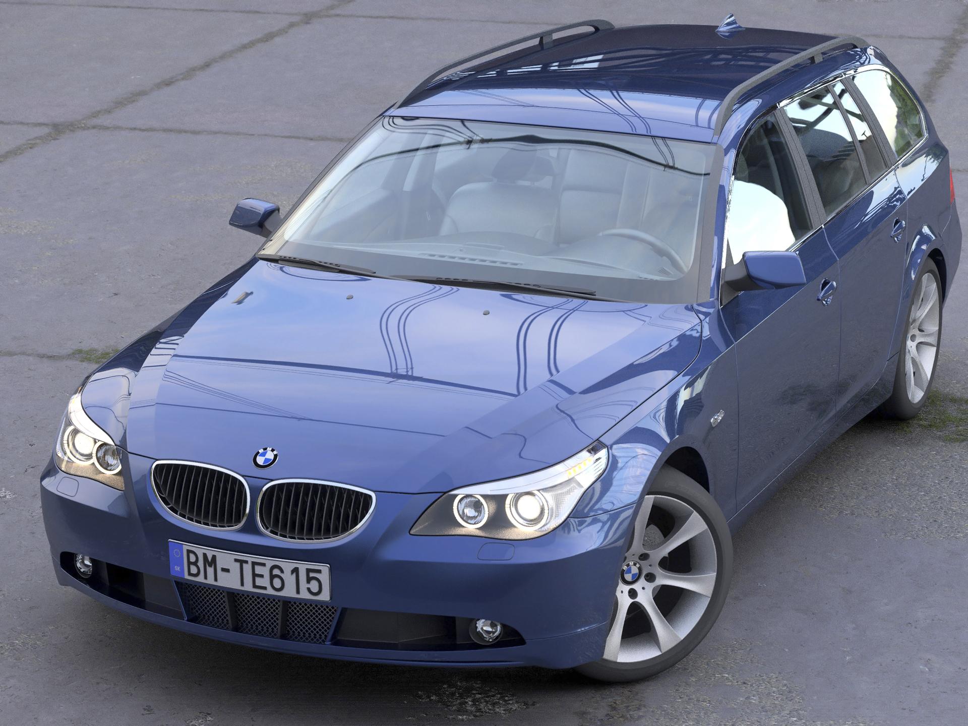 BMW 5 Series Touring 2006 3d model 3ds max fbx c4d obj 268156
