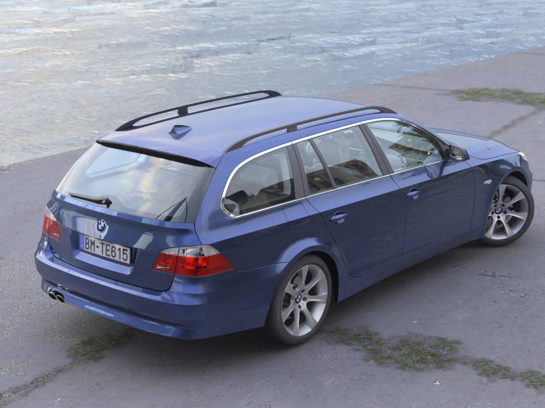 bmw e61 5 series touring 2006 3d model 3ds max fbx c4d obj 268157