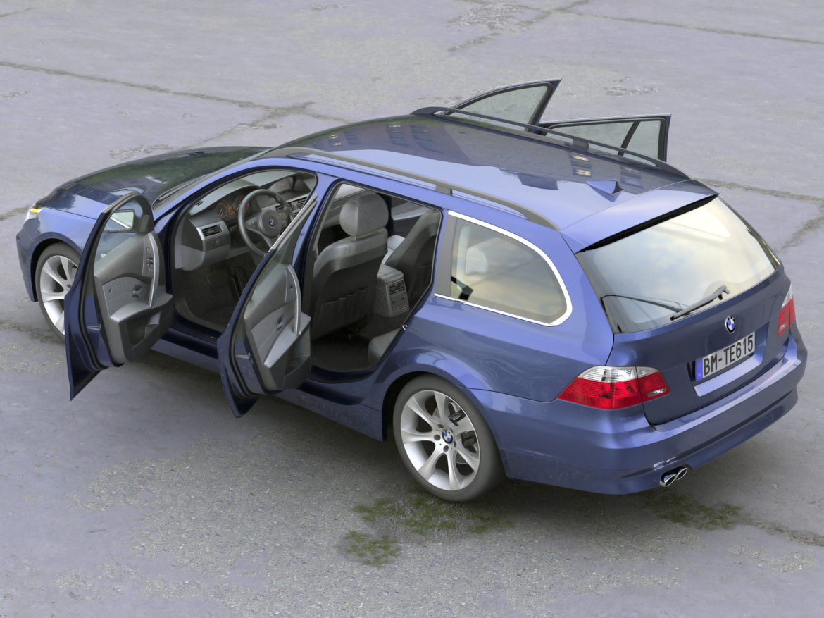 BMW 5 Series Touring 2006 3d model 0
