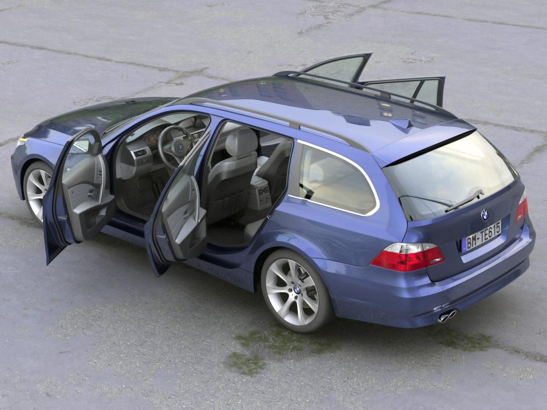 bmw e61 5 series touring 2006 3d model 3ds max fbx c4d obj 268162