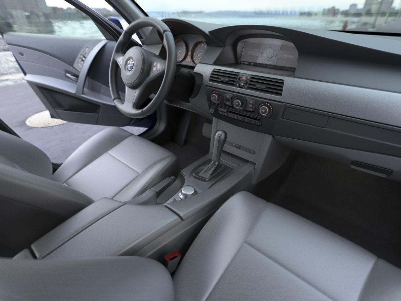 bmw e61 5 series touring 2006 3d model 3ds max fbx c4d obj 268165