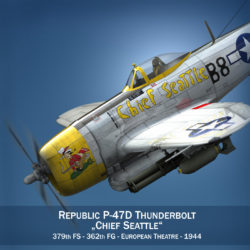 Republic P-47D Thunderbolt - Chief Seattle 3d model 0