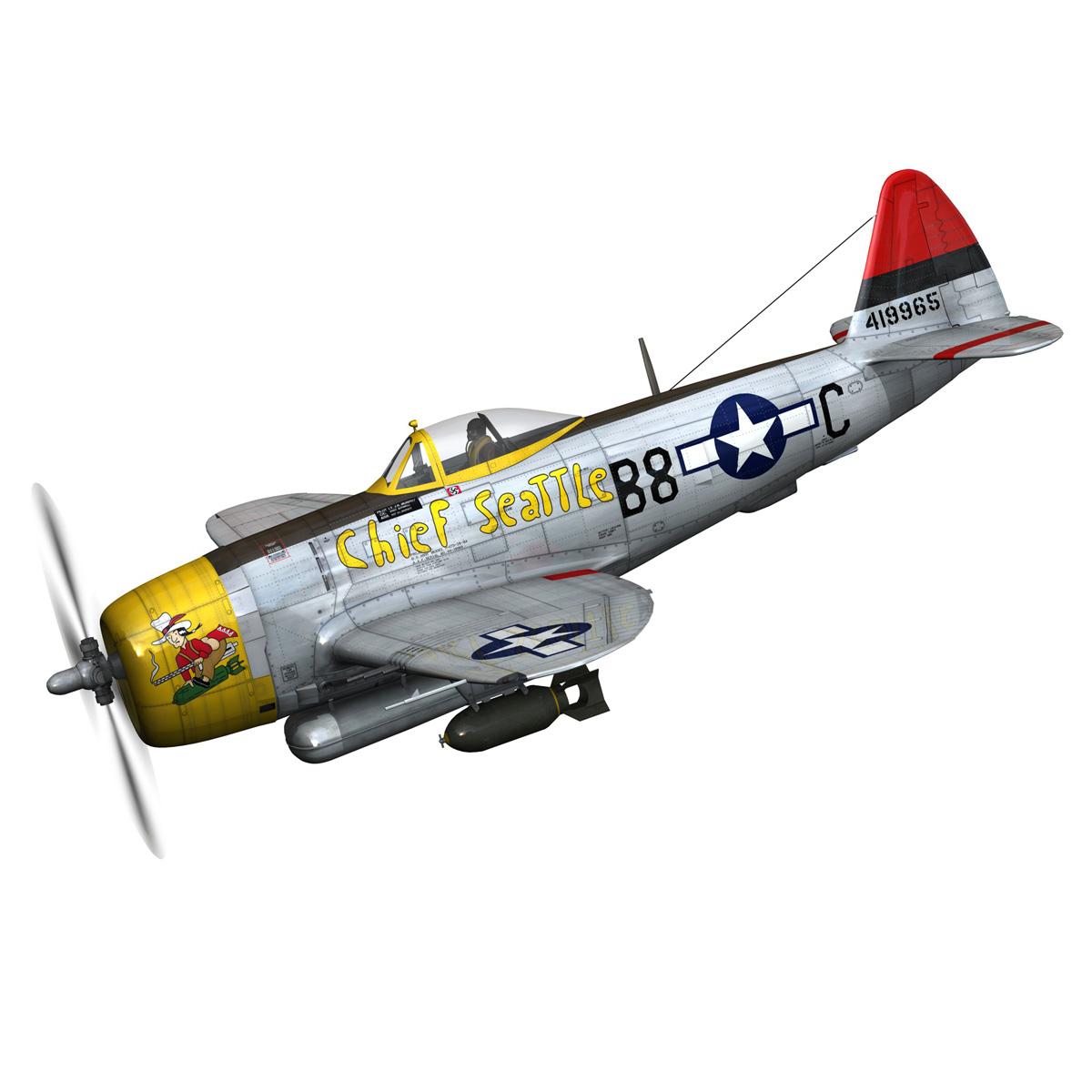 republic p-47d thunderbolt – chief seattle 3d model fbx c4d lwo obj 268201