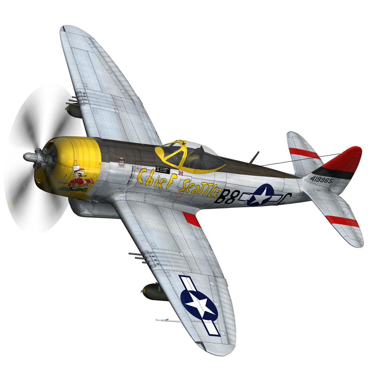 republic p-47d thunderbolt – chief seattle 3d model fbx c4d lwo obj 268202