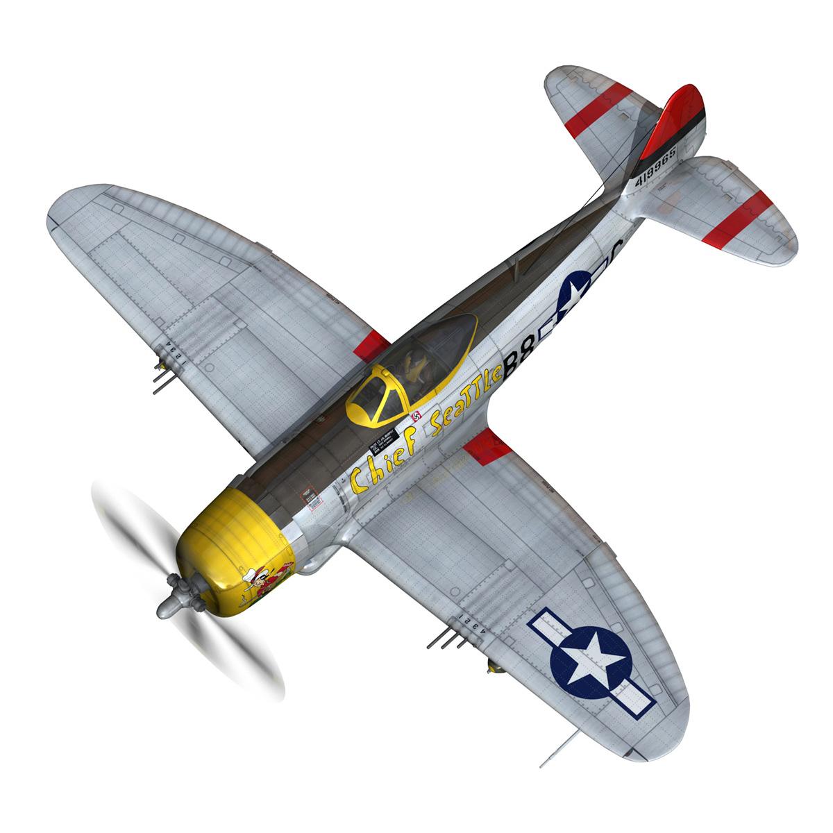 republic p-47d thunderbolt – chief seattle 3d model fbx c4d lwo obj 268203