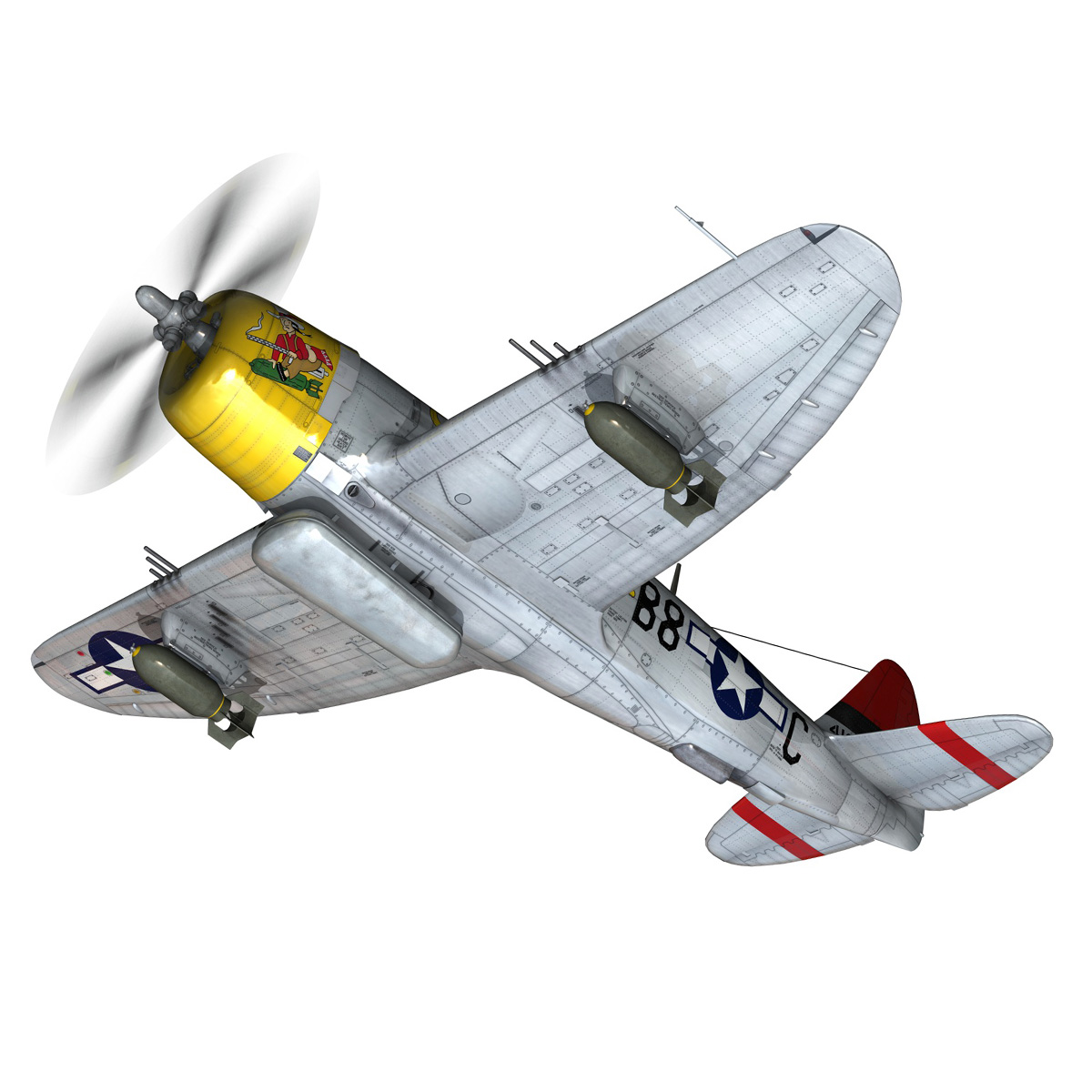 republic p-47d thunderbolt – chief seattle 3d model fbx c4d lwo obj 268204