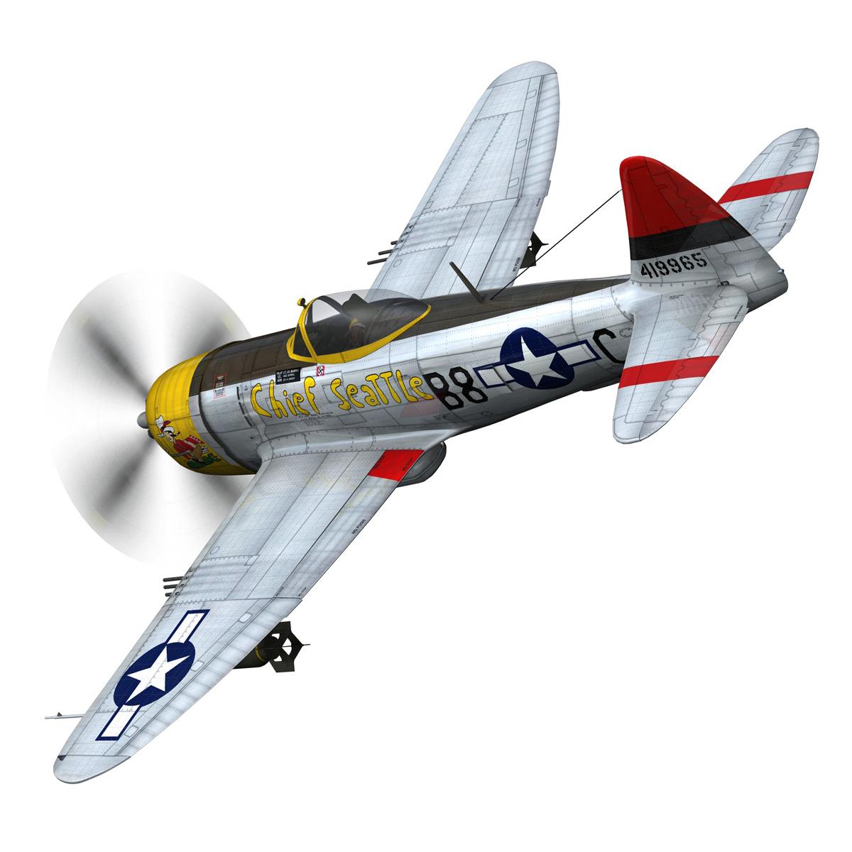 republic p-47d thunderbolt – chief seattle 3d model fbx c4d lwo obj 268205