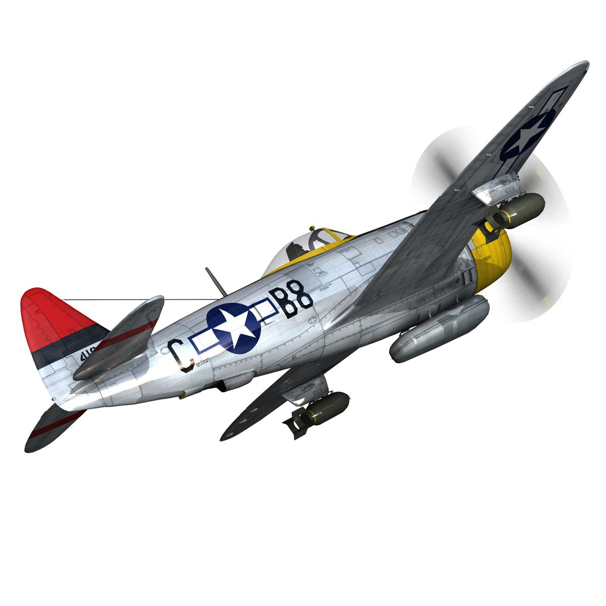 republic p-47d thunderbolt – chief seattle 3d model fbx c4d lwo obj 268206