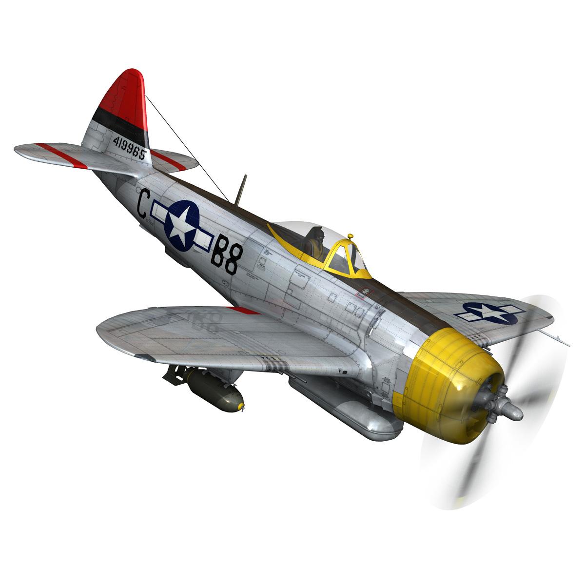 republic p-47d thunderbolt – chief seattle 3d model fbx c4d lwo obj 268207