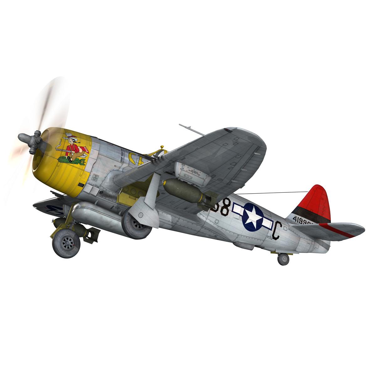 republic p-47d thunderbolt – chief seattle 3d model fbx c4d lwo obj 268208