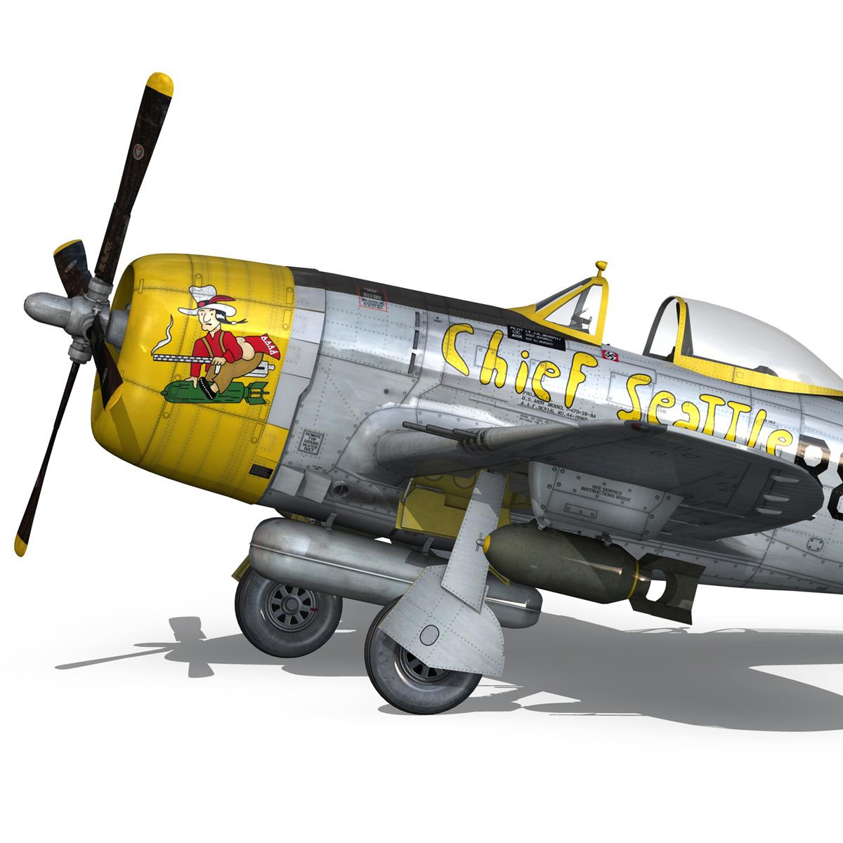 republic p-47d thunderbolt – chief seattle 3d model fbx c4d lwo obj 268209