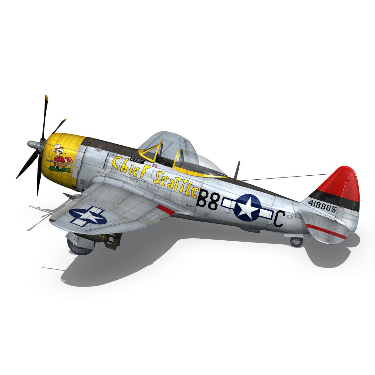 republic p-47d thunderbolt – chief seattle 3d model fbx c4d lwo obj 268210