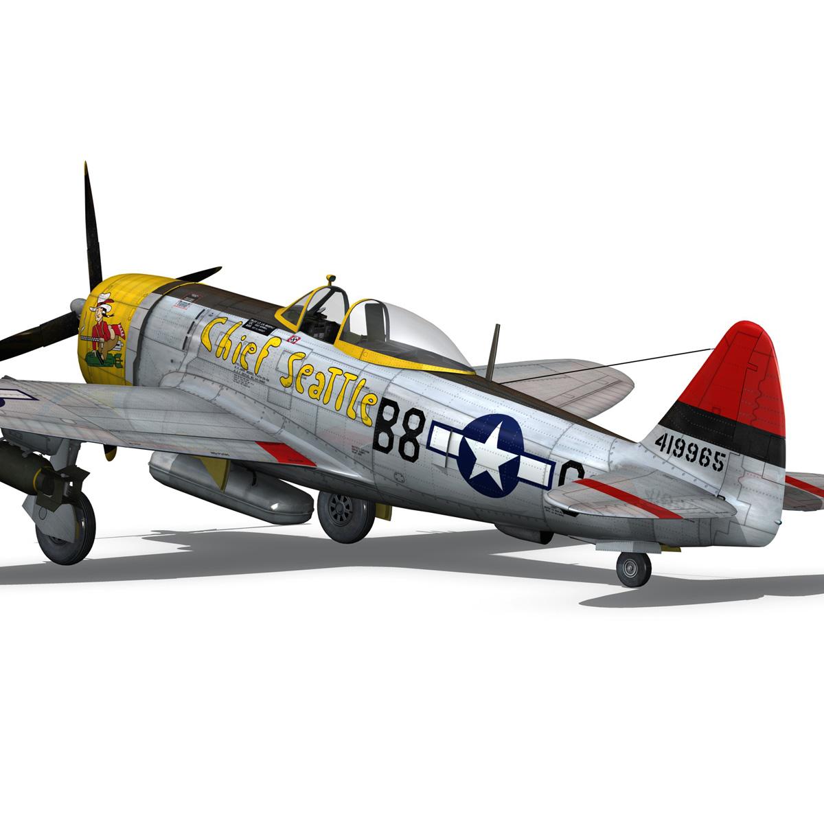 republic p-47d thunderbolt – chief seattle 3d model fbx c4d lwo obj 268211